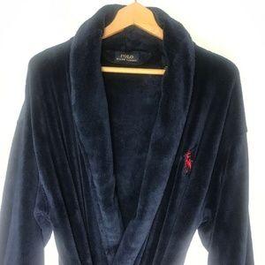 Polo Ralph Lauren Blue Label Mens Plush Bathrobe